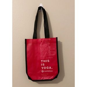 (2) NEW LuluLemon Red Recyclable Bags